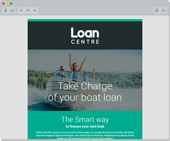 Loan Centre eDM Design