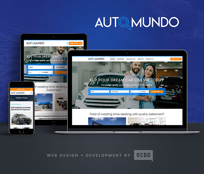 gold coast website design for Automundo