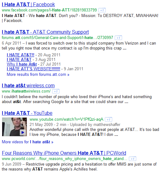 i hate at&t serp