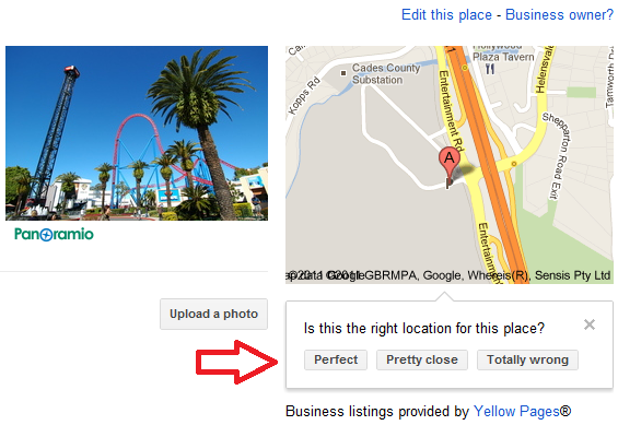 Movie World Google Places Location Accuracy