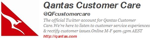 qantas twitter profile