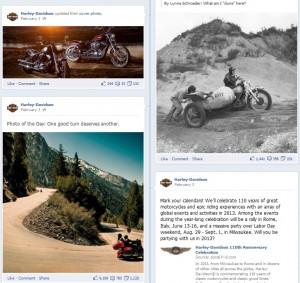 Harley Davidson facebook page