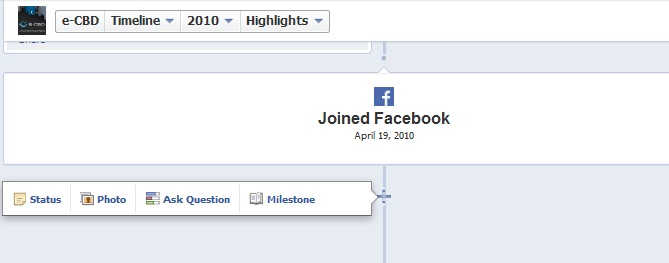 milestones for facebook