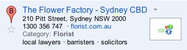 florist sydney spam