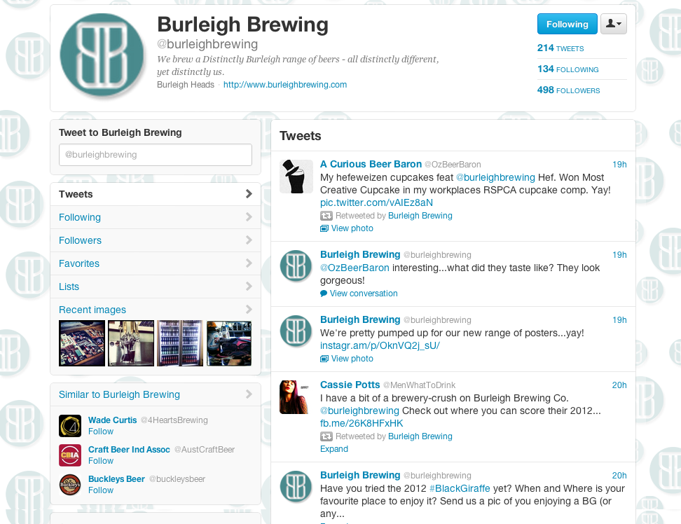 burleighbrewing on Twitter