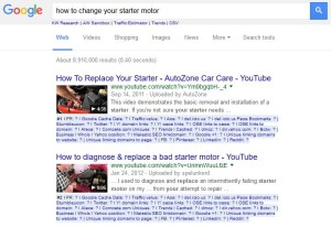 Videos in search results