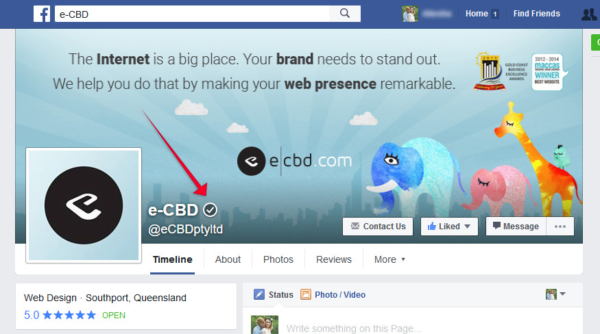 e-CBD Verified Facebook Page