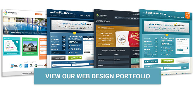 View our landing page portfolio