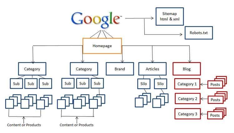 Optimal website link architecture