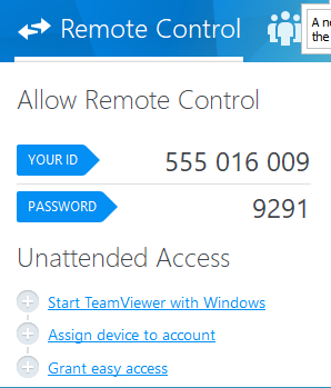 Teamviewer credentials