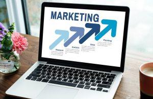 Marketing automation on laptop