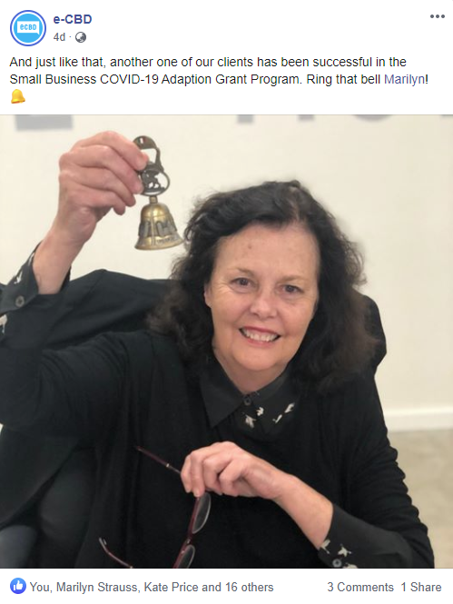 Marilyn Strauss rings the bell