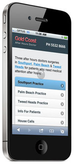 mobile website after hours doctor