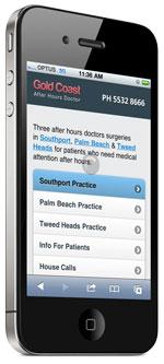 mobile website after hours doctor