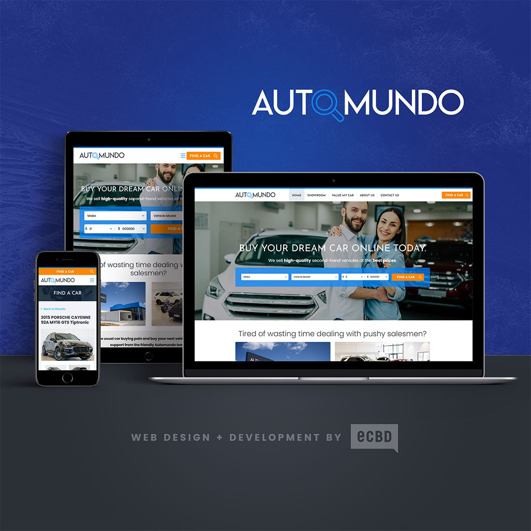 Automundo website design