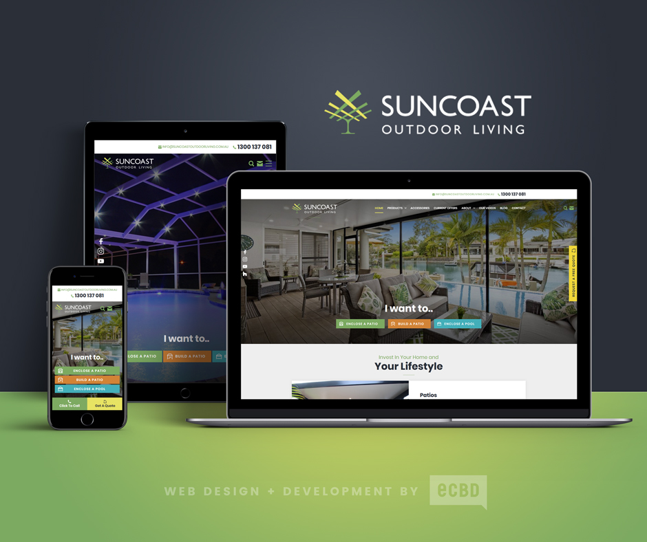 Suncoast Outdoor Living Website Design